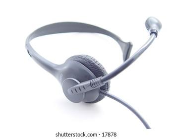 Cordless Phone Headset isolated on white background