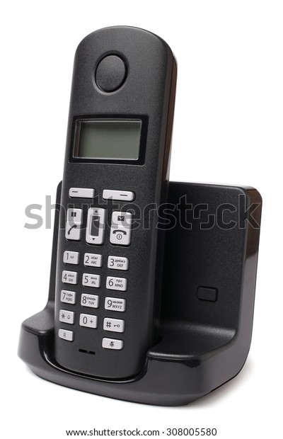 Cordless phone on white background