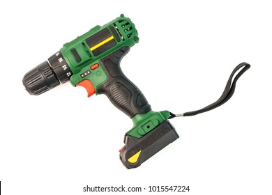 Cordless screwdriver, cordless drill isolated on a white backgro
