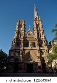 Cordoba, Argentina - 2018: The Sagrado Corazón Church, also known as the Capuchinos Church, is a Roman Catholic neo gothic temple designed by Augusto Ferrari in 1926.