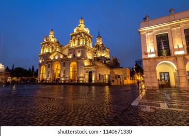 Cordoba Cathedral at night - Cordoba, Argentina