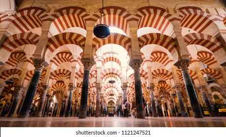 CORDOBA, SPAIN - CIRCA JUNE, 2018: The Mosque-Cathedral of Cordoba dates from 785 and is an unique building where the Catholic and Islamic religions meet.