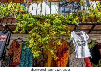 Cordoba, Spain - June 20, 2017: I love Cordoba shirt hanging in a balcony in Cordoba, Spain, Europe, Andalucia