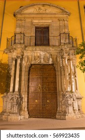 CORDOBA, SPAIN - MAY 25, 2015: The baroque portal of Casa Sacerdotal.