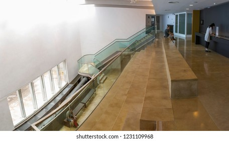 Cordoba, Spain - September 8th, 2018: Archaeological Museum building of Cordoba, Spain. Panoramic