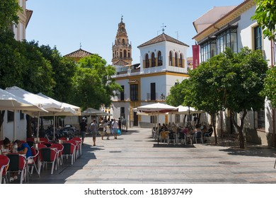 Cordoba,Spain-august 11, 2017:strolling in Cordoba during a sunny day.