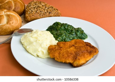 """""""cordon bleu"""" with spinach"""