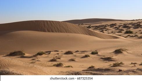 Cordon of sand dunes in Mauritania, between Nouadhibou and Nouakchott. Wonderful landscape.