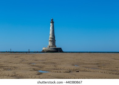 Cordouan Lighthouse on an island near Verdon-Sur-Mer, France. The tallest traditional lighthouse worldwide