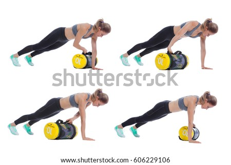 8c5024af4b1d Core Bag Exercise Executed Professional Trainer Stock Photo (Edit ...