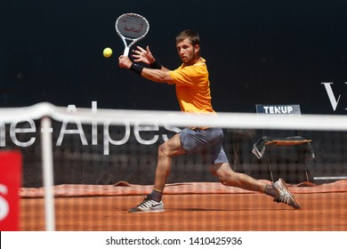 Corentin Moutet (FRA) during the Open Parc Auvergne-Rhone-Alpes Lyon 2019, ATP 250 Tennis tournament on May 22, 2019 at Parc de la Tete d'Or in Lyon, France