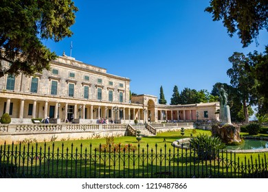 Corfu, Greece - 16.10.2018: Old Royal Palace St. Michael and St. George in Corfu town in Greece