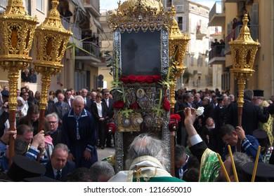 Corfu, Greece, 4/1/2018, Orthodox Palm Sunday Celebration