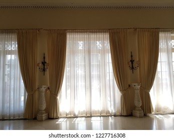 CORFU, GREECE - AUGUST 11, 2018: Interior details of the Sissi Palace.