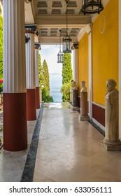 Corfu, Greece - July 23, 2014: The Achilleion palace.