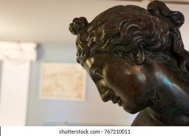 CORFU, GREECE- MARCH 24, 2017: Achilleion palace at Corfu island in Greece