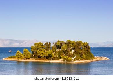Corfu Greece mouse island Kanoni copyspace traveling sea travel