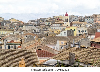 CORFU, GREECE - SEPTEMBER 21, 2017: The old town of Corfu city