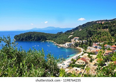 Corfu island, Greece - July 19, 2018: Kalami beach