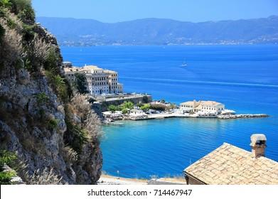 Corfu or Kerkyra. Corfu island, Ionian Sea, Greece.