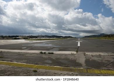 Corfu runway and terminal, Corfu, Greece