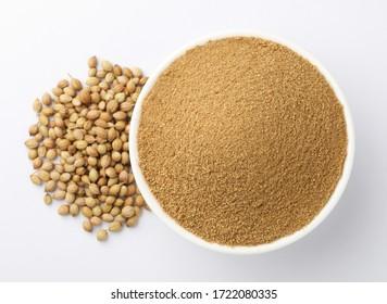 coriander powder with coriander seeds