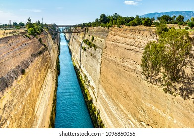 The Corinth Canal  is a canal that connects the Gulf of Corinth with the Saronic Gulf in the Aegean Sea. It cuts through the narrow Isthmus of Corinth and separates the Peloponnese from the Greek main