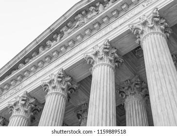 Corinthian Columns (black and white)
