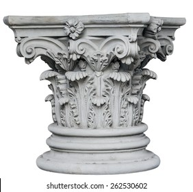 Corinthian Columns isolated on white background. Image include vector clipping path