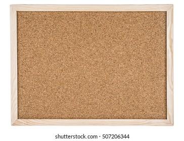 Cork board in a frame