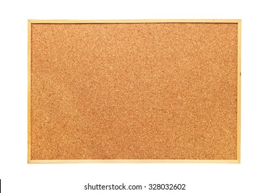 cork board isolated over white background, ready for your message