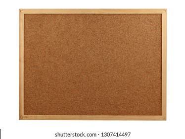 Cork board over white background,clipping path