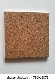 Cork board square isolated on white background