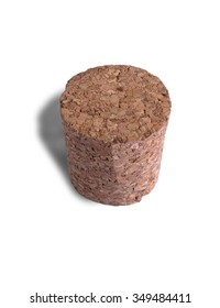 cork from the bottle on white background