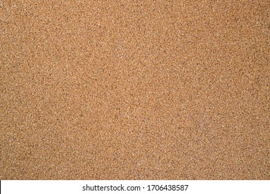 Cork Bulletin Board Surface Texture. Empty Blank Brown Wood Corkboard.