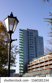 Cork City, Ireland 12 November 2019.  A view of the Elysian Building from Shalom Park, Cork city