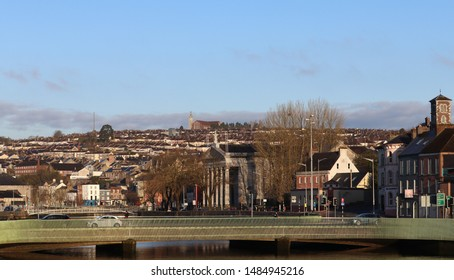 Cork city in Ireland in early spring