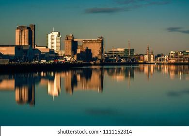 Cork City reflection sunrise Ireland Irish landmark port harbor