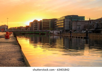 Cork city at sunset HDR - Ireland