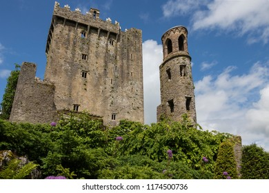 Cork. Ireland. 06.12.16. Blarney Castle is a medieval stronghold in Blarney, near Cork, Ireland. The Blarney Stone is built into the battlements of Blarney Castle.