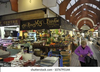 Cork, Ireland / 09/18/2014- The interior of the English Market in Cork Ireland