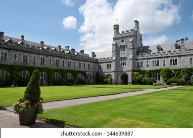 CORK, IRELAND - JUNE 29: University College Cork (UCC) quad on June 29, 2013 in Cork, Ireland. The university was founded in 1845.