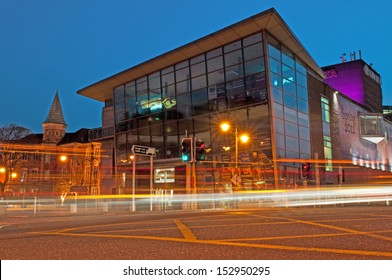 CORK, IRELAND - MARCH 26: stunning night scene at Cork Opera House on March 26, 2012 in Cork, Ireland. In 2011,187,996 persons attended 114 events (Opera, Theater, Concerts, Films, Dance, Art, Comedy)