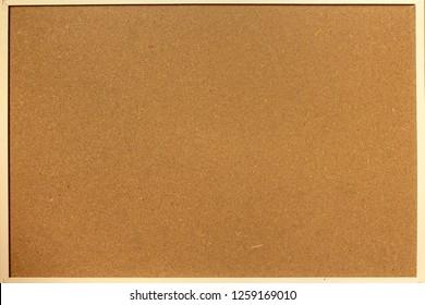 cork noticeboard. bulletin board wooden frame  - Image