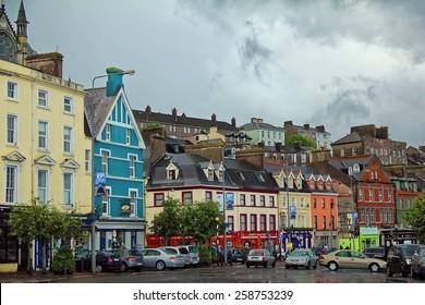 CORK TOWN, COUNTY CORK, IRELAND - JUNE 6, 2012. Colorful buildings in Cork Town, Ireland