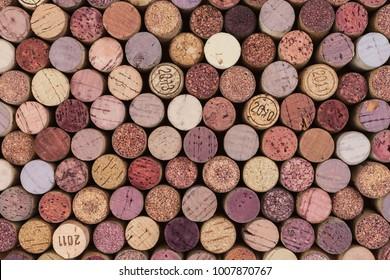 Corks Background pattern of wine bottles corks