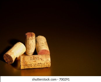corks with inscription, Dans nos caves - in our cellars