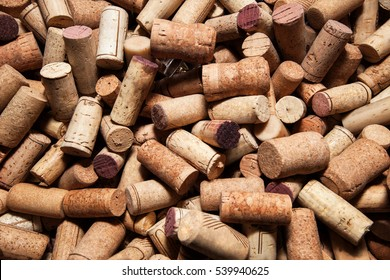 The corks of vines bottles texture