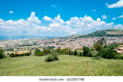 CORLEONE, SICILY, ITALY - JUNE 10, 2015: Corleone is a town in Sicily that became famous after the novels by Mario Puzo and the movies about the Godfather