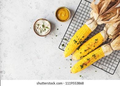 corn BBQ with sauce